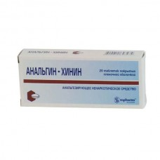 Analgin-chinin 20 tablets
