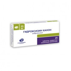 Hydroxyzine 25mg 25 tablets