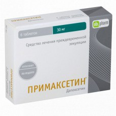 Primaxetine (Dapoxetine) 30mg 6 tablets