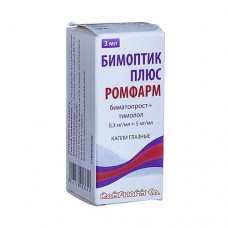 Bimoptic Plus (Bimatoprost + Tymolol) 0.3mg/ml + 05mg/ml 3ml