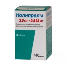 Noliprel A (Perindopril arginine + Indapamide) 2.5mg + 0.625mg 30 tablets