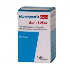 Noliprel A forte (Perindopril arginine + Indapamide) 5mg + 1.25mg 30 tablets