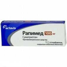 Rapimed (Sumatriptan) 100mg 6 tablets