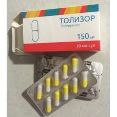 Tolizor (Tolperisone) 150mg 30 capsules