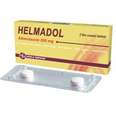 Helmadol (Albendazole) 200mg 2 tablets