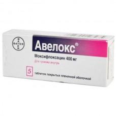 Avelox (Moxifloxacin) 400mg 5 tablets