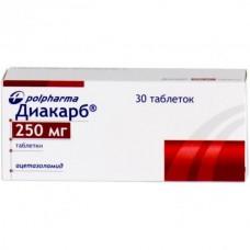Diacarb (Acetazolamide) 250mg 30 tablets
