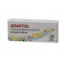 Adaptol (Mebicar) 500mg 20 tablets
